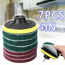 7*Drill Brush Attachment Set Power Scrubber Cleaning Kit Combo Scrub Tub Cleaner