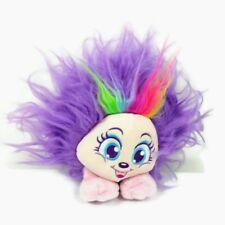 Shnooks Plush Stuffed Animal Purple Jelly Beans Foot Rainbow Striped Hair