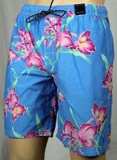 Tommy Hilfiger Azul Rosa Verde Flores Bañador Pantalón Corto Nuevo con Etiqueta