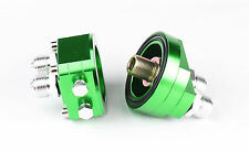 Oil Filter Relocation Male Sandwich Fitting Adapter Kit 3/4x16 / 20x1.5 Green