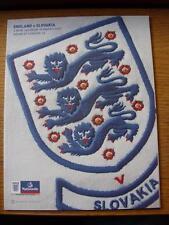 28/03/2009 England v Slovakia [At Wembley]  (Item Has No Apparent Faults)
