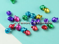 500 Pcs 6*8mm Mixed Color Jingle Bells Beads Charms Findings Pendants li2o