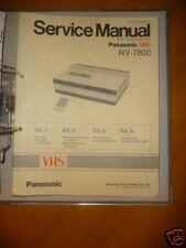 Panasonic REPARACION DE MANUAL DE SERVICIO nv-7800 Vídeo RECORD, original