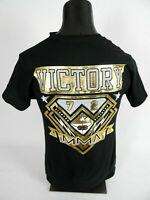 Mens MMA Ecko UNLTD Black T-Shirt Raised Gold Foil with Back Prints! Slim Fit