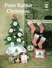BEATRIX POTTER MISS MOPPET STOCKING CHRISTMAS MICE CROSS STITCH LEAFLET GUC