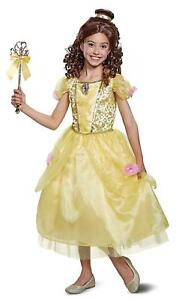 Belle Disney Princess Beauty Beast Fancy Dress Halloween Deluxe Child Costume