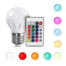 3W E27 RGB LED Birne Farbwechsel Lampe Glühbirne Licht mit IR Fernbedienung Bulb