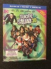 Suicide Squad 3D (Blu-ray 3D+Blu-ray+Digital, 2016; Extended Cut) w/ Slipcover