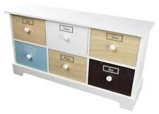 Cabinet Kommode Schrank mit 6 Schubladen 40,5x11,8x21,3cm Schränkchen Wohnzimmer