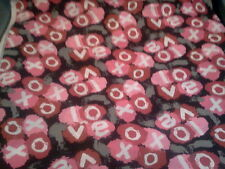 1 1/4 yards Valentine's Day XOXO & Love Splotches Black/Gray 100% Cotton Fabric