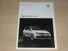 47258) VW Golf VI GTi adidas Preise & Extras Prospekt 12/2010