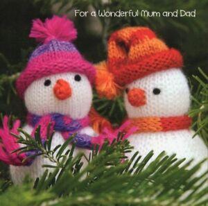 'FOR A WONDERFUL MUM & DAD'  CHRISTMAS GREETING - QUALITY - FREE P&P