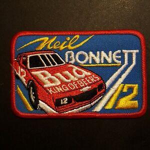 VTG ~ Neil Bonnett ~ Budweiser Nascar Racing Patch Hat Shirt Jacket Iron On Sew