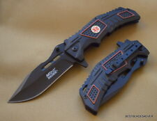 MTECH SPRING ASSISTED TACTICAL EMS LOGO KNIFE WITH POCKET CLIP