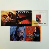 KHADJA NIN ♦ Lot 5 x CD Single ♦ inc. FREE, SAMBA LATINO, SAMBOLERA MAYI SON