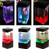 Colorful Aquatic-Jellyfish Volcano-Tank LED Water Lamp Aquarium Mood Night Light