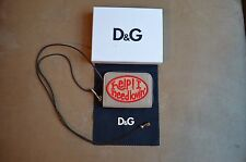 DOLCE & GABBANA D&G MULTICOLOR EMBEROIDERED PATCHES ZIP & SAFE NECKLACE WALLET