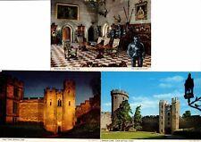 3 Colour Postcards of Warwick Castle. 1977.