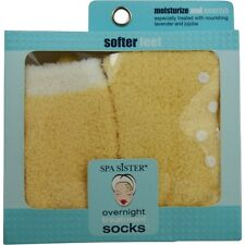 Spa Accessories Essential Moist Socks With Jojoba & Lavender Oils Yellow
