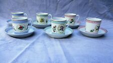 HAVILAND LIMOGES PORCELAIN EMPRESS JOSEPHINE DEMITASSE 6 CUP & SAUCER COLLECTION