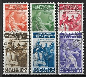 Vatican City #41-46 Used $154 SCV