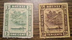Brit Oceania: Brunei, Gilbert & Ellice, W. Samoa, Sarawak, Pitcairn - 28 stamps