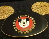 Rare PIN Disneyland Resort Mickey Mouse Ears Face Yellow Jeweled Walt Disney 4""