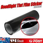 Car Headlight Tint Film Tail Light Fog Lamp Overlay Sticker Dark Black 21 x 30CM