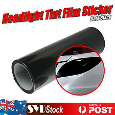 Headlight Tint Film Decal Car VAN Tail Fog Light Vinyl Wrap 30 x 80cm Dark Black