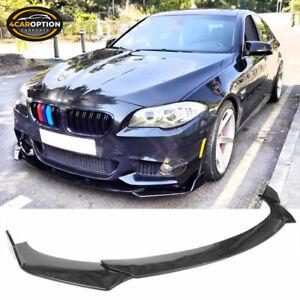 Universal Car Front Bumper Lip Spoiler Chin Splitter Protector Gloss Black 3PC