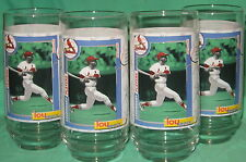 4 Lou Brock St Louis Cardinals Drinking Glasses 1998 McDonald's Promo New Mint!