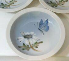 Royal Copenhagen Soap Dish Butter Plate Butterfly Daisy Flower Denmark PFX