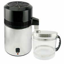 New 4L Pure Water Distiller Dental Medical 304 Stainless Steel Internal&External