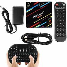 4GB/64GB H96 MAX+ Plus Android 9.0 Smart TV Box Quad Core WIFI USB3.0 + Keyboard