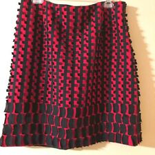 Carlisle Per Se Mini Skirt Red and Black Mod Lined Side Zip Size 10US Size 12UK