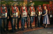 1950's Reno Nevada Interior Interior Cowboy slot Machines Sierra Crocker 8401