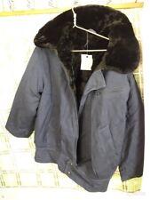 Russian Army Pilot Winter Jacket VVS Sheepskin FUR Coat USSR new size 52 Europea