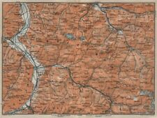 BAD RAGAZ PRÄTIGAU MONTAFON ENVIRONS. Wangs Rätikon Bludenz Maienfeld 1920 map