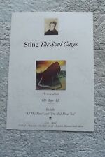 STING - THE SOUL CAGES - ADVERT - 21 x 30cm.