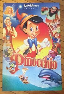 Walt Disney's Classic Pinocchio Vintage Golden 300 Pc Large Movie Poster Puzzle