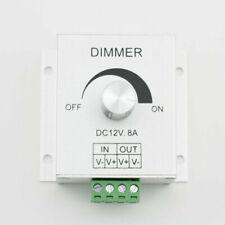 SUPERNIGHT™ DC 12V 8A Single Channel Knob Dimmer Controller For LED strip Lamp