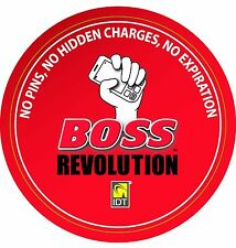 BOSS REVOLUTION $10 INTERNATIONAL LONG DISTANCE CALL CARD TOP UP CREDIT FREE $1