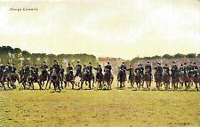 Military postcard Charge Cavalerie Onze Land en Zeemacht 02.13