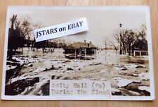 1930s AMITY HALL, PA, DUNCANNON GAS STATION GAS PUMPS FLOOD POSTCARD RPPC