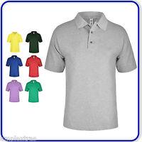 Mens Ladies Short Sleeve Polo Shirt Adults Plain Summer Casual Smart Work Wear