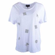 EMPORIO ARMANI 6X2T1A 2JACZ Womens T Shirt White Casual Crew Neck Short Sleeve