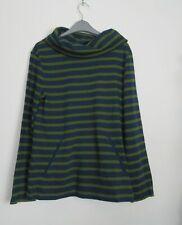 New Seasalt Boslowick Sweatshirt Green  Striped Top  Size 10 - 26