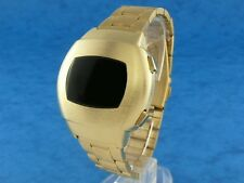 BRUSHED GOLD 1970s 70s Vintage Style LED LCD DIGITAL Rare Retro Mens Watch p3