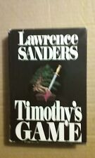 Timothy's Game by Lawrence Sanders 1988 Hardcover Good Condition
