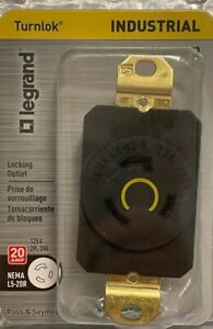 LEGRAND 20-Amp Turnlok Industrial Locking Outlet - L520RCCV3 - NEMA L5-20R